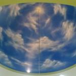 Kubah motif awan