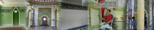 baner kaligrafi masjid